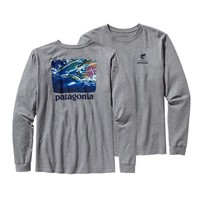 Patagonia Men's Long-Sleeved World Trout® Steelhead Organic Cotton T-Shirt