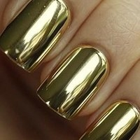 Golden Nail Wrap - Modicure - Manicure Nail Wraps and Nail Foils