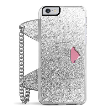 Textured Cat Clutch (Silver) iPhone 6/6S Case