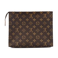 Fanewants / Louis Vuitton Woman Men MAKEUP Bag Handbag LV Print Bag