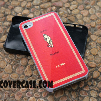 Winnie the Pooh Books case for iPhone 4/4S/5/5S/5C/6/6+ case,samsung S3/S4/S5 case,samsung note 3/4 Case