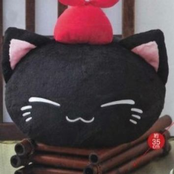 Furyu Nemu Neko Big X Big Plush - Black Cat