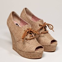 BC Footwear Ruffle Wedge Bootie - American Eagle Outfitters