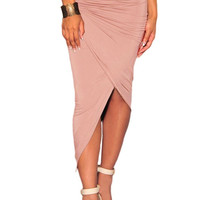 2016 Summe New Fashion Anteriore Della Fessura Office Lady Rock And Roll Costumes Long Tight Skirt