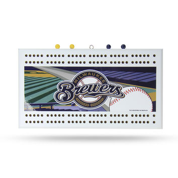 MLB Milwaukee Brewers Cribbage Board