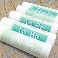 25pcs Mint To Be Wedding Favor Lip Balms (Peppermint)