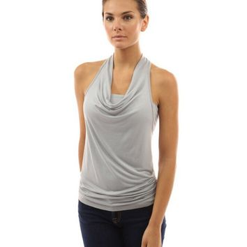 Plain Halter Neck Tank Top