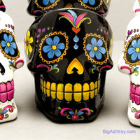 Day of the Dead Head Skull Ashtrays - Big Ashtray