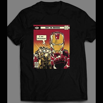I AM IRON MAN ENDGAME COMIC BOOK INSPIRED SHIRT