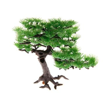 1PC Aquarium Decoration Artificial Plants Plastic Pine Fish Tank Accessories Bonsai Decoration Aquario Fish Aquarium Ornaments