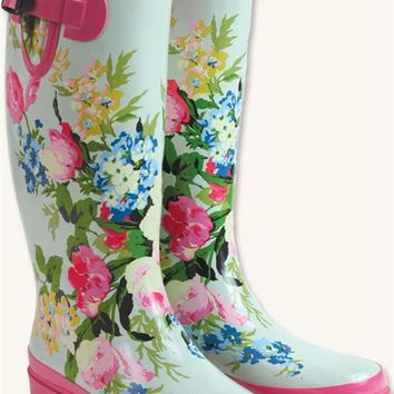 MAY DAY WELLIES - Floral Rain Boots