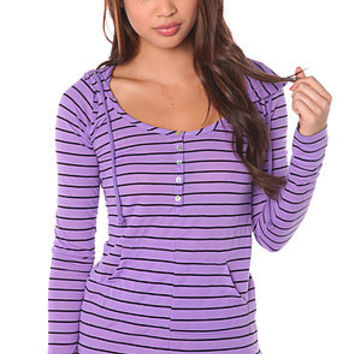Volcom The Neon Slice Hooded Henley in Vibrant Purple : Karmaloop.com - Global Concrete Culture