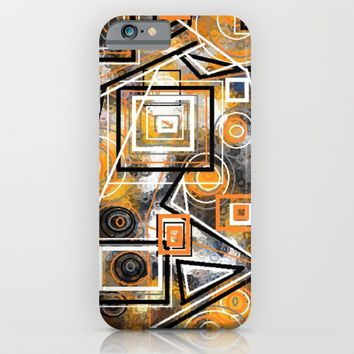CIRCLES AND SQAURES iPhone & iPod Case by violajohnsonriley