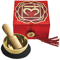 "Tibetan Mini Meditation Bowl and Box: 2"" Root Chakra"