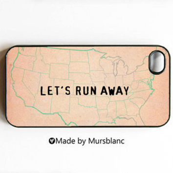 iphone case Let's Runaway Together Let's run by HipsterCases