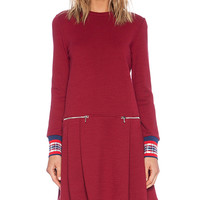 Marc by Marc Jacobs Jayden Long Sleeve Dress in Red