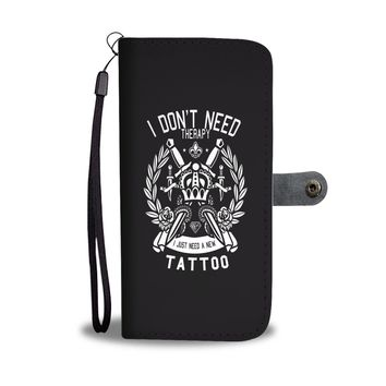 Custom Designed Tattoo Therapy Wallet Phone Case