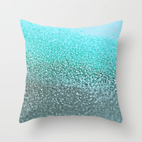 GATSBY TEAL Throw Pillow by Monika Strigel