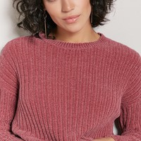 Ribbed Knit Chenille Sweater