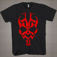 Star Wars Red  Mens and Women T-Shirt Available Color Black And White