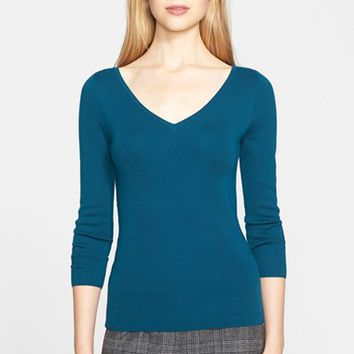 Women's Michael Kors 'Super' V-Neck Cashmere Sweater,