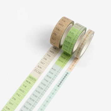Cute Japanese Washi Tape Daily Weekly Planner DIY Deco Adhesive Tape Post It Scrapbooking Notebook Masking Tapes Lable Sticker