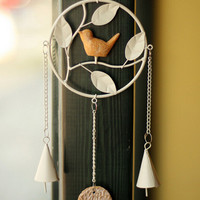 handmade bird wind chime