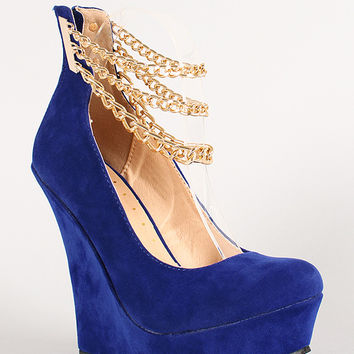 Liliana Honfleur-92 Ankle Chain Platform Wedge