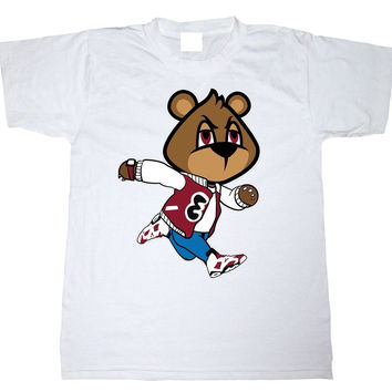 Eyes on My Kicks Clothing Bear Jump Carmine 6's White Tee