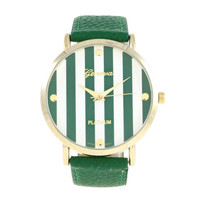 ARMY GREEN STRIPED WATCH
