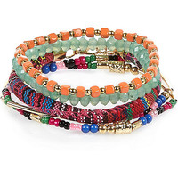 River Island Girls red beaded bracelets pack