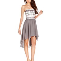 As U Wish Juniors Dress, Strapless Sequin High-Low - Juniors Homecoming Dresses - Macy's