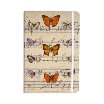 "Suzanne Carter ""Butterfly Opera"" Music Tan Everything Notebook"