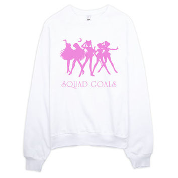 Sailor Moon Squad Goals sweater jumper sweatshirt, sailor moon gift, sailormoon fan