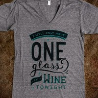 ONE GLASS TONIGHT DESIGN