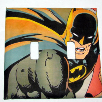 Double Light Switch Cover - Light Switch Plate Batman
