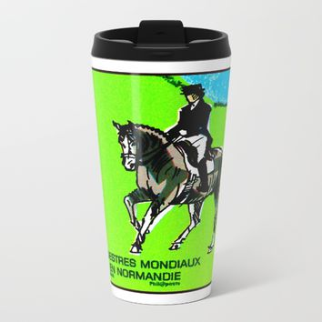2014 FEI World Equestrian Games in Normandy DRESSAGE Metal Travel Mug by lanjee