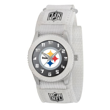 Pittsburgh Steelers NFL Kids Rookie Series Watch (White)