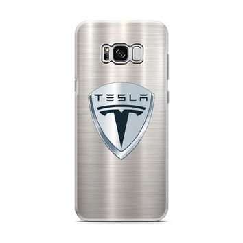 Tesla Motors Brushed Metal Logo Samsung Galaxy S8 | Galaxy S8 Plus Case
