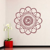 Wall Decals Mandala Sticker Oum Om Decal Indian Home Decor Bedroom Yoga Studio Dorm Window MM8