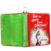 How The Grinch Stole Christmas Glass Book Ornament - Baby & New Parents - Christmas Ornaments - bronners - Categories - Bronner's CHRISTmas Wonderland