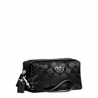 Black Coach Make-Up Bag