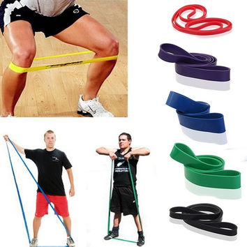 New Resistance Bands Weight Training Fitness Exercise Loop Crossfit Strength = 1933302916