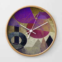 Abstraction 02 #society6 #buyart #decor Wall Clock by mirimo