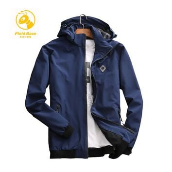 Field Base Men Jacket Thin Slim Long Sleeve Spring Jackets Hooded Style Army Brand Clothing Casual Jaqueta Masculina