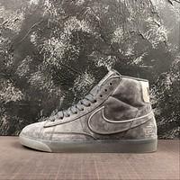 Nike Blazer Champion Dark Grey Reflective Mid Sneakers