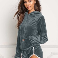 Sporty Hoodie and Shorts