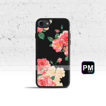 Large Carnations Floral Case Cover for Apple iPhone 7 6s 6 SE 5s 5 5c 4s 4 Plus & iPod Touch