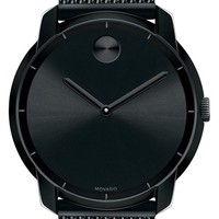 Men's Movado 'Bold' Mesh Strap Watch, 44mm - Black
