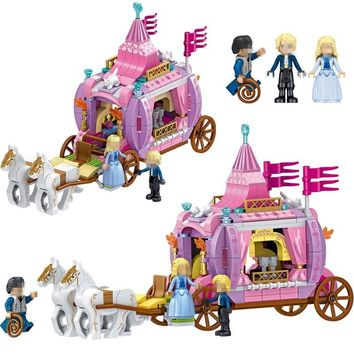 Princess Windsor Bourbon Royal Carriage QL1104 Building Blocks Toys For Children Compatible Legoing Friends Legoings Elves Gifts